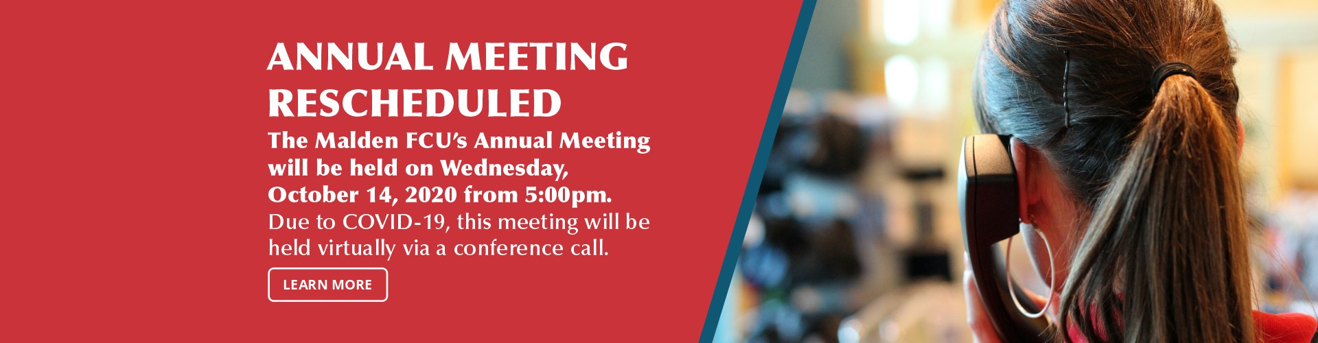 Annual Meeting Rescheduled